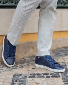 bae5d3436375 Undandy Blue Leather Sneakers for Men Handcrafted Custom Made  blueshoes   gentlemanstyle  offdutystyleformen Eric