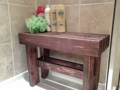Spastyle Wooden Shower Bench By Lewiscustomdesign On Etsy 60 00