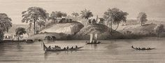 Jodensavanne, tekening van Benoit 1839