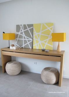 DIY canvas art with masking tape - Ministry of Deco Diy Canvas Art, Diy Wall Art, Diy Home Decor, Room Decor, Wall Decor, Cuadros Diy, Diy Casa, Decoration, Interior Design