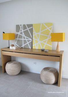Cuadros diy con formas geométricas #hogar #decoración #nórdico #escandinavo  www.hogardiez.com.es