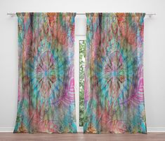 This Window Curtains Boho Hippie Gypsy Window Treatments is just one of the custom, handmade pieces you'll find in our curtains shops. Cheap Curtains, Modern Curtains, Colorful Curtains, Window Curtains, Valance, Gypsy Curtains, Dye Curtains, Patchwork Curtains, Outdoor Curtains