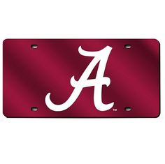 Alabama Crimson Tide  Mirror License Plate Laser Tag #RollTide #AlabamaCrimsonTide #LaserTag