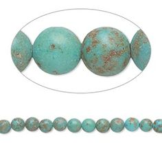 Bead, magnesite (dyed / stabilized), dark blue-green, 3-5mm round, D grade, Mohs hardness 3-1/2 to 4. Sold per 15-inch strand.