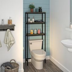 Add storage to your small bathroom with this Terrace over-the-toilet storage rack from Avenue Greene. Get extra storage space in your bathroom with the Avenue Greene Terrace Over the Toilet Storage Cabinet. Small Bathroom Storage, Bathroom Organization, Storage Spaces, Small Bathrooms, Small Kitchens, Toilet Shelves, Behind Toilet Storage, Over Toilet Storage Cabinet, Bathroom Cabinets Over Toilet