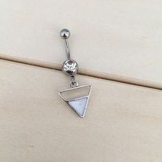 Boho Triangle Belly Button Ring