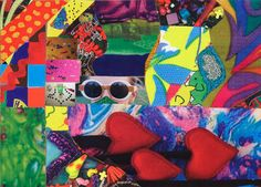 """Saatchi Art Artist Apryl Miller; Collage, """"Dive in a Silver Volcano with mom goggles lost"""" #art"""
