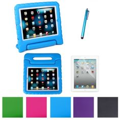 $17 HDE Kids Light Weight Shock Proof Handle Case for iPad 2/3/4 w/ Screen Protector & Matching Stylus (iPad 2/3/4, Blue) HDE http://www.amazon.com/dp/B00GDEY36Y/ref=cm_sw_r_pi_dp_KaSoub1ZHZ1GC