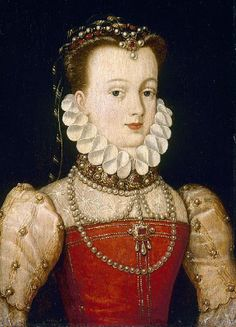 Portrait of a Noblewoman (possibly Elisabeth of Austrai, Queen of France). between circa 1570 and circa 1575 Mode Renaissance, Costume Renaissance, Renaissance Portraits, Renaissance Jewelry, Renaissance Fashion, Historical Costume, Historical Clothing, Female Portrait, Portrait Art