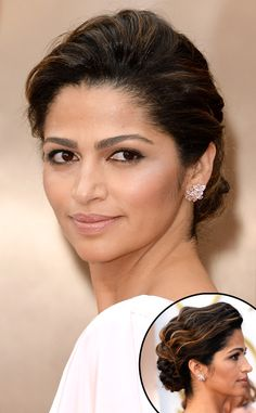 BEST BEAUTY AT THE 2014 OSCARS CAMILA ALVES Sleek low buns can be a bit boring which is why Matthew Mcconaughey's wife wisely jazzed up her version up with soft wavy texture.