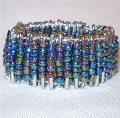 Another style of a safety pin bracelet.