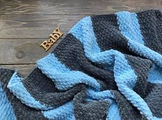 Striped Plush comfy baby blanket Baby wrap Baby announcement