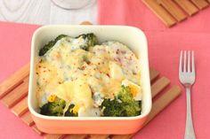brócoli con huevo y queso