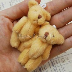 10 Mini Plush Golden Brown Teddy Bear Craft 60mm by PleaseComeIn, $14.99