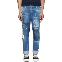 Dsquared2 - Blue Paint Splatter Jeans