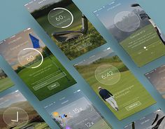 """Check out new work on my @Behance portfolio: """"Screen design concept for golf training app"""" http://be.net/gallery/47367439/Screen-design-concept-for-golf-training-app"""
