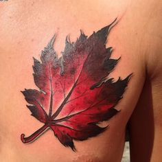 red maple leaf tattoo - Google Search