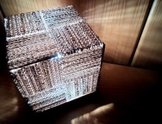 Great Cube Cardboard Lamp