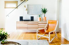 via apt therapy | The chair and console are both from Blu Dot.