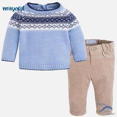 Conjunto para bebe de niño MAYORAL NEWBORN de jersey y pantalón de pana