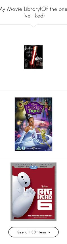 """""""My Movie Library(Of the ones I've liked)"""" by randomfangirllookingforaspark ❤ liked on Polyvore featuring star wars, movies, disney, dvd, objects, backgrounds, filler, film, dvds and electronics"""