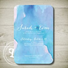 WATERCOLOUR - Custom Personalised Printable Invitation