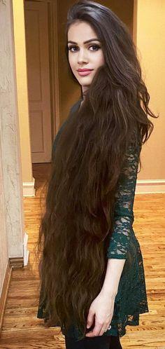 Hair 24, Bun Hair, Loose Hairstyles, Indian Hairstyles, Beautiful Long Hair, Gorgeous Hair, Big Bun, Long Black Hair, Super Long Hair