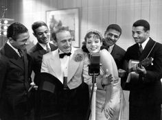 Jimmy Durante, Lupe Vélez and the Mills Brothers from the 1934 film Strictly Dynamite.