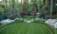 Beautiful borders and center green lawn!