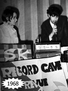 DJ at Snowdon Y in 1968 with Jacqui Wall