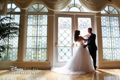 Melanie & Chris' special day was filled with a bridal portrait session, a fairy tale ceremony at the Wedding Pavilion and a unique reception at the Grand Floridian #Disney #wedding #realcouples #WeddingPavilion