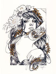 """Radeo"" - Limited Edition Giclee Print at RhinoBarkingSparrow by Wendy Ortiz"