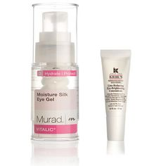 Target bags under your eyes - To minimize puffiness, use a product with caffeine, like Murad Moisture Silk Eye Gel ($49). And for dark circles, try a cream with peptide haloxyl, which stabilizes the blood vessels that cause discolora­tion; we like Kiehl's Line-Reducing Eye Brightening Concentrate ($40).