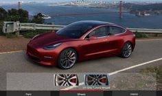 Tesla Model 3 Design Studio will initially have choice of color and wheel size