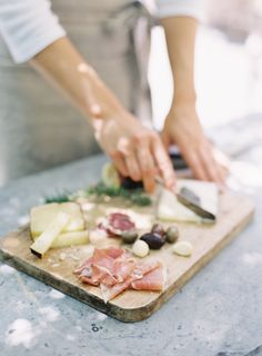 food + drink   cheese and charcuterie for guests   via: rylee hitchner