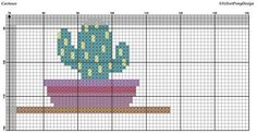Modern Cactus Cross Stitch PDF Pattern. This pattern is an instant download PDF. Size: 130w x 110h stitches 18 Count Aida: approx. 7.2w x 6.1h inches or 18.34w x 15.52h cm 16 Count Aida: approx. 8.1w x 6.9h inches or 20.64w x 17.46h cm 14 Count Aida: approx. 9.3w x 7.9h inches or
