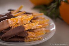 Kandírozott narancshéj csokiba mártva - kétféle csokival