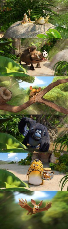 Character Design des personnages de la série. Images TAT productions - Master Films - Vanilla Seed / 2011