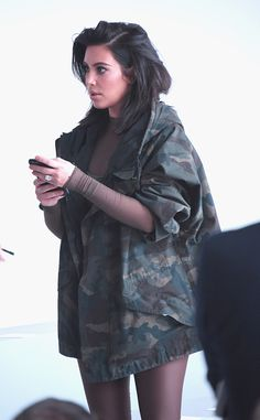Kim at the Kanye West x Adidas presentation in NYC - February 12, 2015