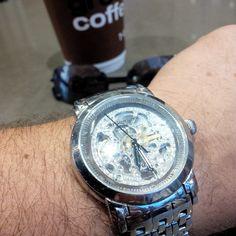 #womw #wotd Perfect day for the Stuhrling skeleton auto. I think this has been my most worn watch lately... #TagsForLikes #TFLers @TagsForLikes #watch #timepiece #wristporn #watchgramm #wristshot #wristswag #wristgame #watchfam #wristwatch #watchesofinstagram #dailywatch #watches #watchgeek #watchnerd #instagood #igers #instalike #picoftheday #follow #me #fashion #swag #photooftheday #love #time #instadaily