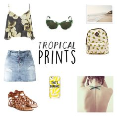 """""""#hottropics"""" by rboowybe ❤ liked on Polyvore featuring Topshop, Dsquared2, Valentino, Kate Spade, Chicas Fashion, Dolce&Gabbana, tropicalprints and hottropics"""
