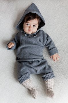Knit Hoodie sweater Baby clothing Eco friendly Baby by KriksisLV
