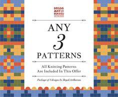 Knitting Pattern Bundle, 3 Knit Patterns PDF Discount Package Knitting Designs, Knitting Patterns, Packaging, Pdf, Unique Jewelry, Handmade Gifts, Etsy, Knitting Projects, Kid Craft Gifts