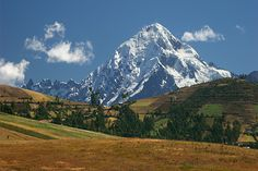 Nevado Veronica 5683m is the highest peak in the sacred valley of the Incas, Peru.