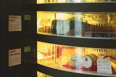 The 24/7 Automat in delicatessen 'Floris Feinkost' offers high-end, prepared foods and gift packages...