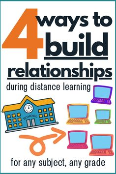 The hardest part of distance learning is building relationships with students. Here are four simple ways to build relationships during distance learning.