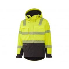 6afa2e35 Helly Hansen 71367 Hi-Vis York Insulated Jacket - Class 3 - Yellow /  Charcoal