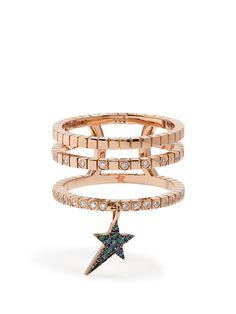 Diamond & rose-gold Cosmos ring | Diane Kordas | MATCHESFASHION.COM AU
