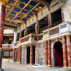 The stage of Shakespeare's Globe Theatre.