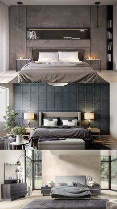 bedroom ideas for couples 2017 Modern Rustic Bedrooms, Modern Bedroom Furniture Sets, Bedroom Furniture Online, Mid Century Modern Bedroom, Bedroom Ideas For Couples Grey, Couple Bedroom, Room Decor Bedroom, Bed Room, Bedroom Accessories